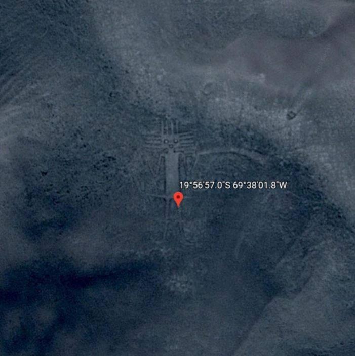 Google Earth在Atacama Desert補捉到神秘圖案